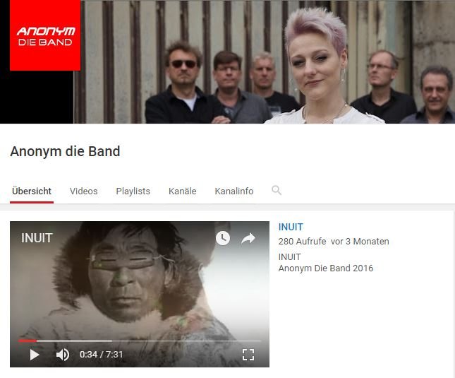 Anonymdie Band bei Youtube